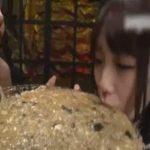 【レズ スカトロ動画】ゲロと下痢便を口移しする美形レズカップルが濃厚に絡み合うエログロSEX!