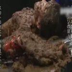 【スカトロ動画】全身に大量の大便を盛られた糞おはぎ状態の美少女が食糞強制されてガチ泣きww